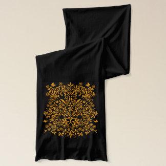 Guld- engelsk Scarf för blommigtträdgårdVines Sjal