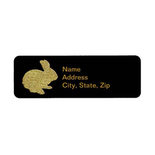 Guld- etikett för adress för returadress etikett