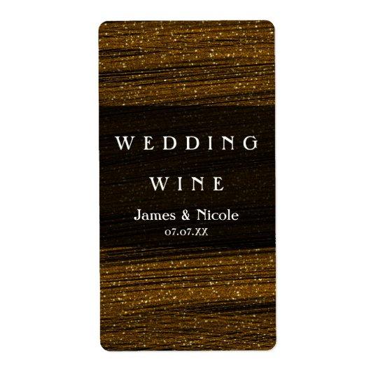 Guld- etiketter för vin för glitter- & fraktsedel