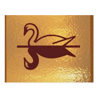 Guld- fågelanka vykort