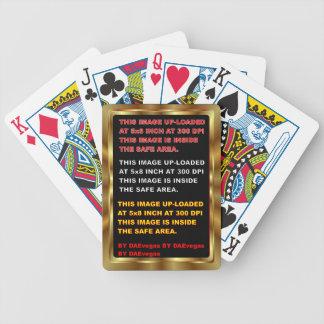 Guld- färg för gränskortmall 30 beskådar noterar spelkort