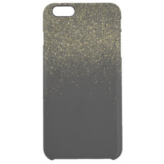 Guld- Fauxglitter Clear iPhone 6 Plus Skal