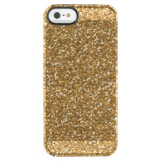 Guld- Fauxglitter Clear iPhone SE/5/5s Skal