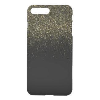 Guld- Fauxglitter iPhone 7 Plus Skal