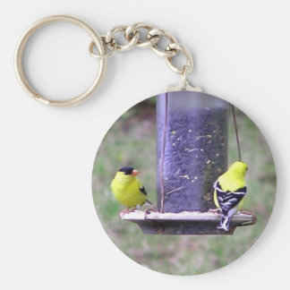 Guld- Finches Rund Nyckelring