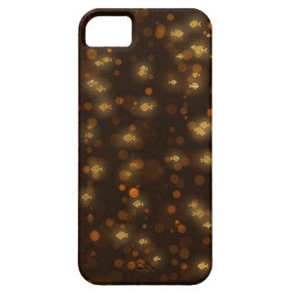 Guld- fiskkonfettisvart Bokeh iPhone 5 Case-Mate Fodral