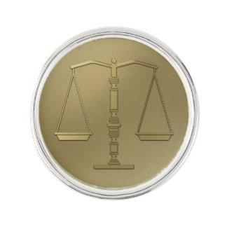 Guld- fjäll av eleganten för rättvisa | kavajnål
