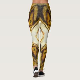 Guld- fjäril leggings