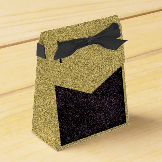 Guld- Flecked med svart spräcklig designfavör Presentaskar