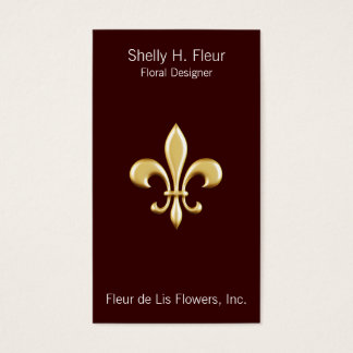 Guld- Fleur De Lis Visitkort