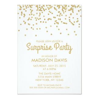 Guld- födelsedagsfest för 12,7 x 17,8 cm inbjudningskort
