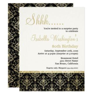 Guld- födelsedagsfest för överrrakning för 10,8 x 14 cm inbjudningskort