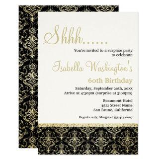 Guld- födelsedagsfest för överrrakning för 8,9 x 12,7 cm inbjudningskort