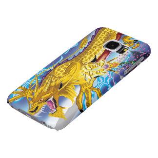 Guld- fodral för drakegalax S6 Samsung Galaxy S6 Fodral