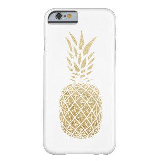 Guld- fodral för glitterananastelefon barely there iPhone 6 fodral
