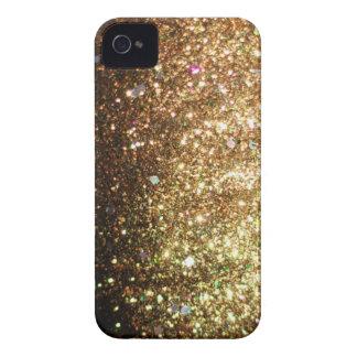 Guld- fodral för glitterblackberry boldjul iPhone 4 Case-Mate fodral