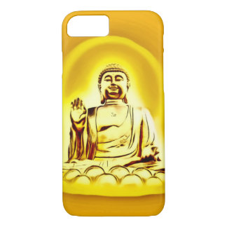 Guld- fodral för iPhone 7 för Buddha Airbrushkonst