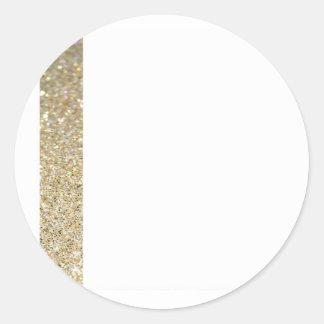 Guld fodrar elegant modern inbjudan runt klistermärke