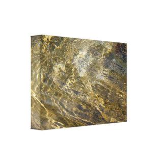 Guld- fontänvatten canvastryck