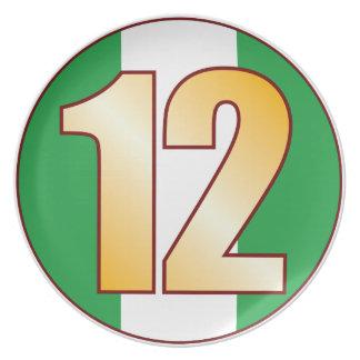 Guld för 12 NIGERIA Tallrik