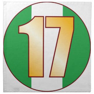 Guld för 17 NIGERIA Tygservett