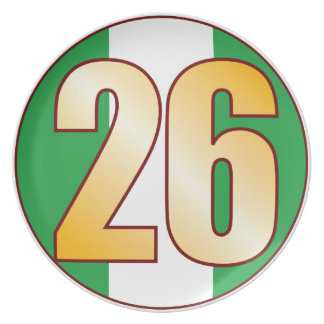 Guld för 26 NIGERIA Tallrik