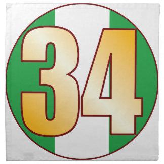 Guld för 34 NIGERIA Tygservett