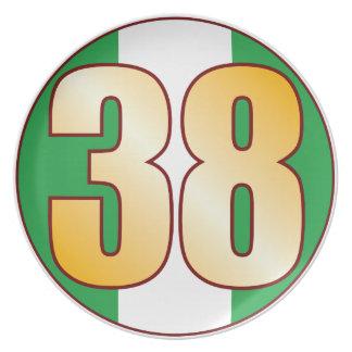Guld för 38 NIGERIA Tallrik