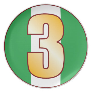 Guld för 3 NIGERIA Tallrik