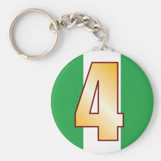 Guld för 4 NIGERIA Rund Nyckelring