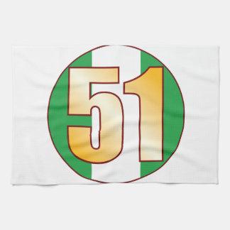 Guld för 51 NIGERIA Kökshandduk