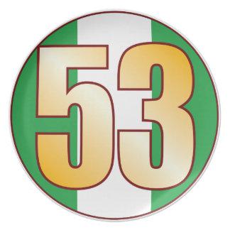 Guld för 53 NIGERIA Tallrik