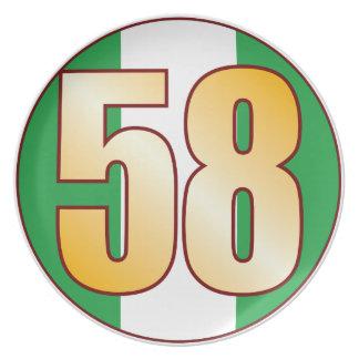 Guld för 58 NIGERIA Tallrik