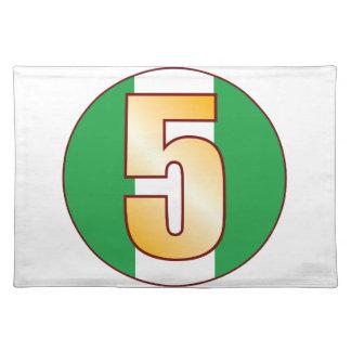 Guld för 5 NIGERIA Bordstablett