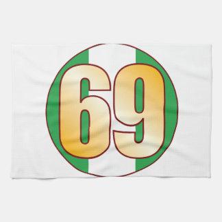 Guld för 69 NIGERIA Kökshandduk
