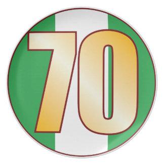 Guld för 70 NIGERIA Tallrik