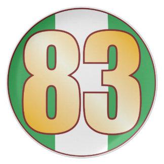 Guld för 83 NIGERIA Tallrik