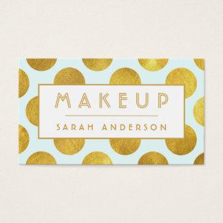 Guld för cosmetologisten för Makeupkonstnären Visitkort