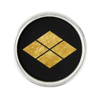 Guld för faux för klan för samurai för Takeda Rockslagsnål