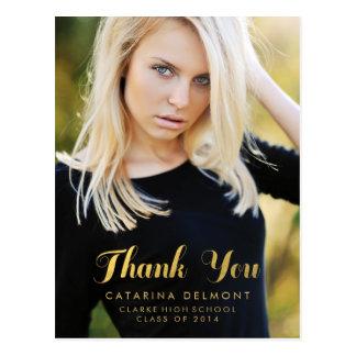 Guld för fauxen för fotostudententack omkullkastar vykort