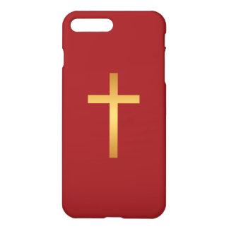 Guld för förhållande för grundläggande kristenkor iPhone 7 plus skal