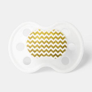 Guld för glittersparregult nappar för bebisar