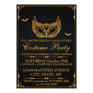 Guld för Halloween dräktparty 12,7 X 17,8 Cm Inbjudningskort
