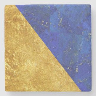 Guld för Lapis Lazuli och svart Stenunderlägg