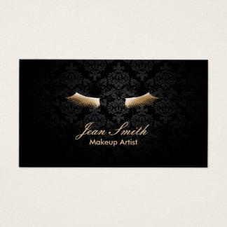Guld för Makeupkonstnären piskar elegant damast Visitkort