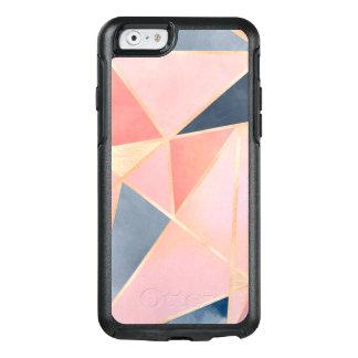 Guld för persika för triangeldenimblått rosa OtterBox iPhone 6/6s fodral