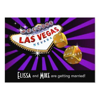 Guld för svart för Las Vegas Starburst 12,7 X 17,8 Cm Inbjudningskort