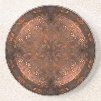 Guld- förkoppra Shimmer Underlägg Sandsten