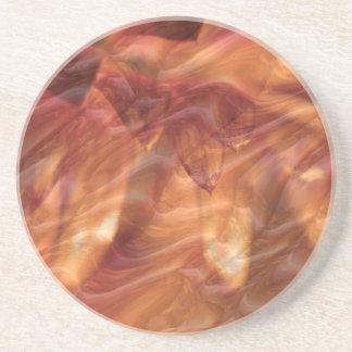 Guld förkopprar diamantroblomman underlägg sandsten