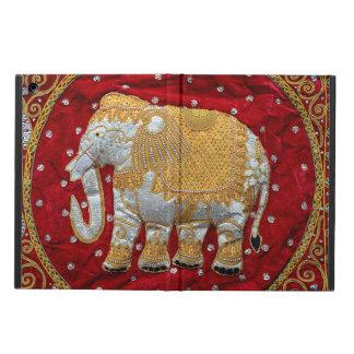 Guld- förskönad indisk elefant som är röd och iPad air fodral